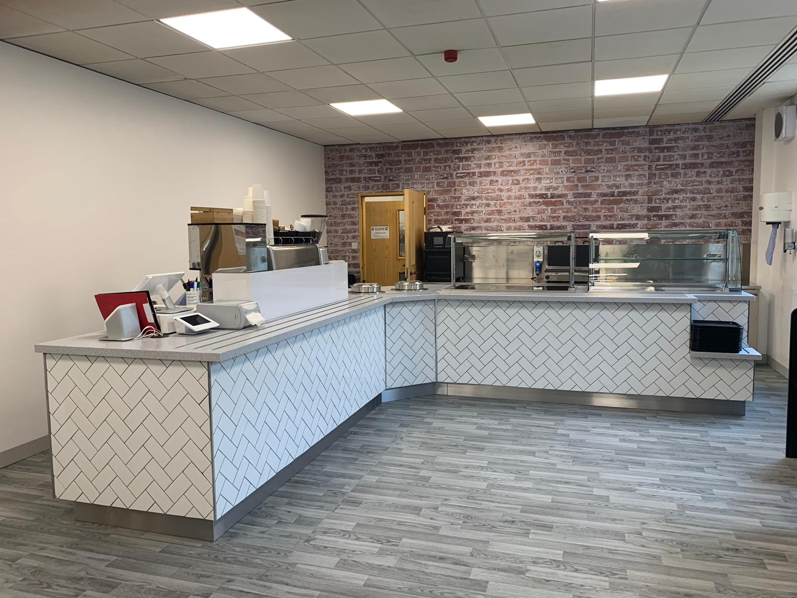 After Photo of the Servery Counter