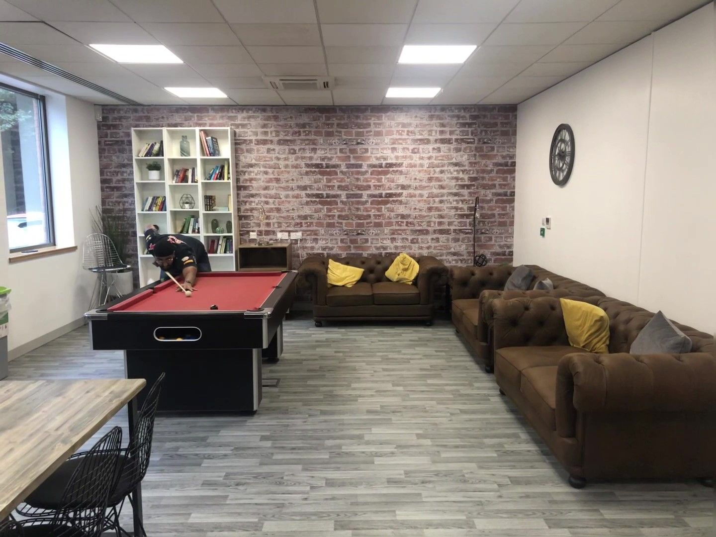 A nice new space for the staff at Big Word to come and relax.